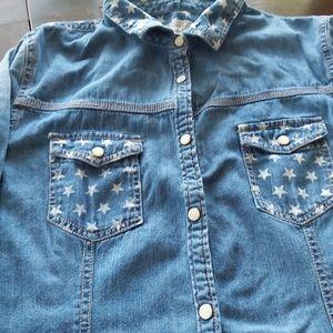 Converse Jean shirt  w/ stars/b1A